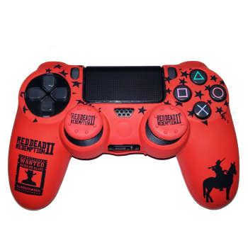 محافظ دسته بازی پلی استیشن ۴ مدل Red Dead کد NSP05 به همراه روکش آنالوگ