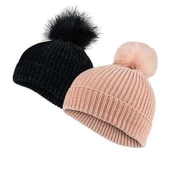 کلاه بافتنی زنانه اسمارا کد WB1 مجموعه 2 عددی
