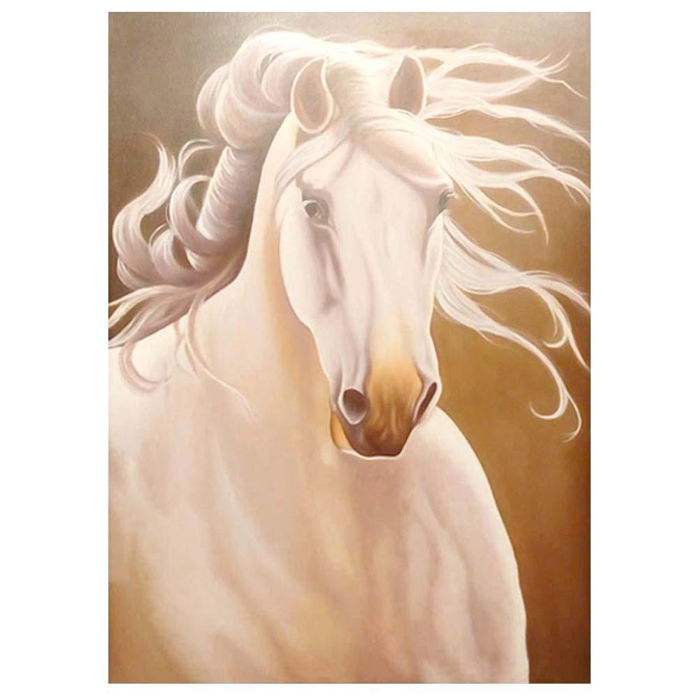 خرید                      تابلو نقاشی رنگ روغن طرح اسب برفی کد Z236