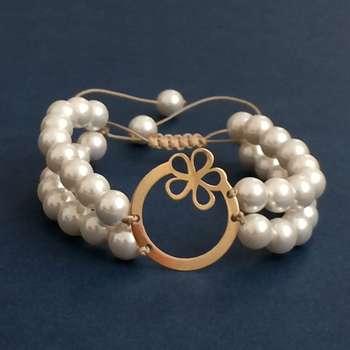 دستبند طلا 18 عیار زنانه الماسین آذر کد Golsadaf01
