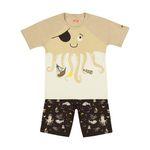 ست تی شرت و شلوارک راحتی پسرانه مادر مدل 2041107-07 thumb