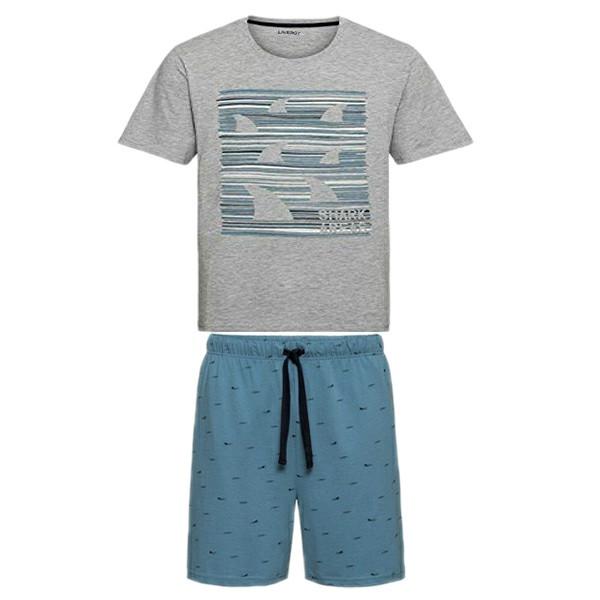 ست تی شرت و شلوارک مردانه لیورجی مدل 4224646