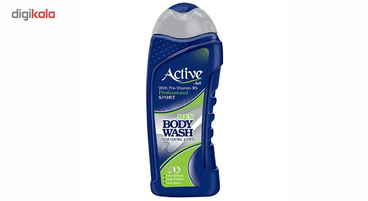 شامپو بدن مردانه اکتیو سری Sport مدل Blue مقدار 400 گرم main 1 1