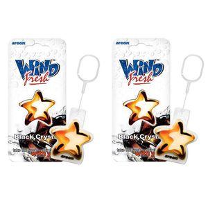 خوشبو کننده ماشین آرئون مدل Wind Fresh Black Crystal بسته 2 عددی