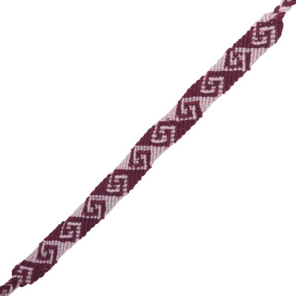 دستبند بافت گالری سیمین طرح گل گژدین مدل 00-01