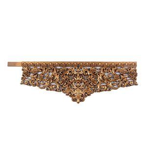 تاج وسط قاب پرده دکومهر مدل گل رز طلایی شاپان