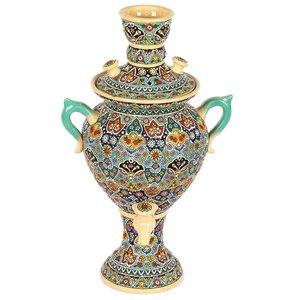 سماور سفالی مینا کاری گالری گوهران مدل دکوری 1125