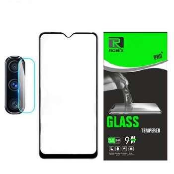 محافظ صفحه نمایش روبیکس مدل FL A11 مناسب برای گوشی موبایل سامسونگ Galaxy A11 به همراه محافظ لنز دوربین