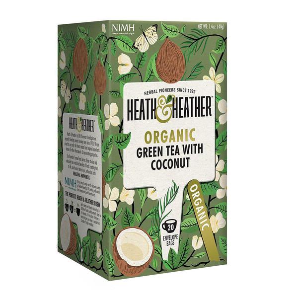 بسته دمنوش هیت و هیتر مدل Green Tea With Coconut