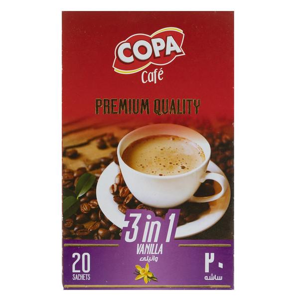 قهوه فوری وانیلی کوپا بسته 20 عددی