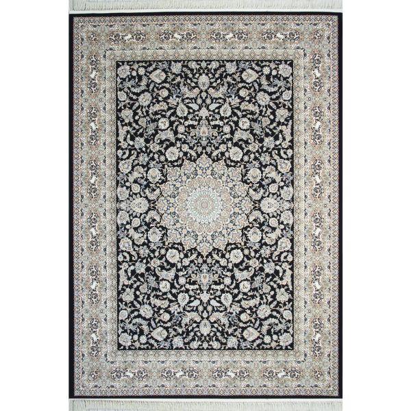 فرش ماشینی مشهد اردهال طرح 12106 زمینه سرمه ای