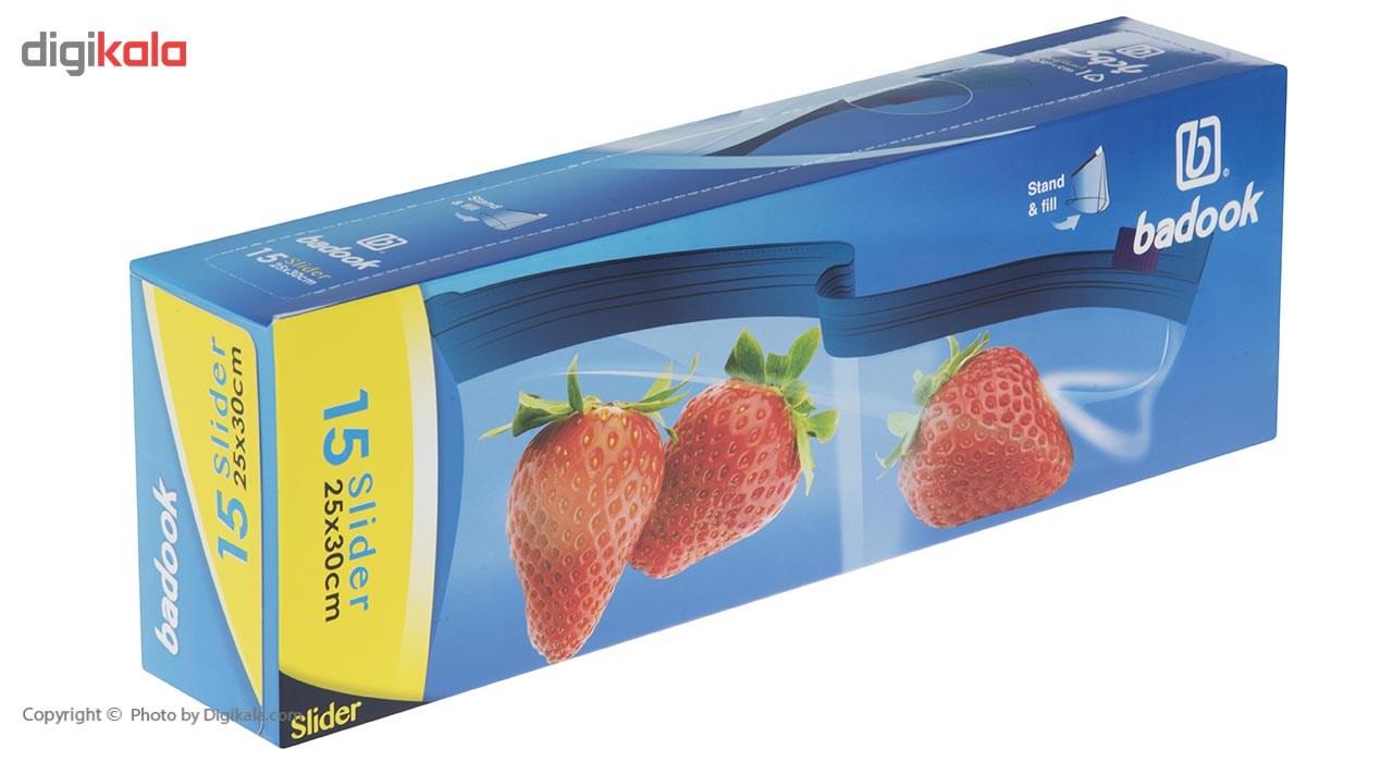 کیسه اسلایدر بادوک مدل Large بسته 15 عددی main 1 2