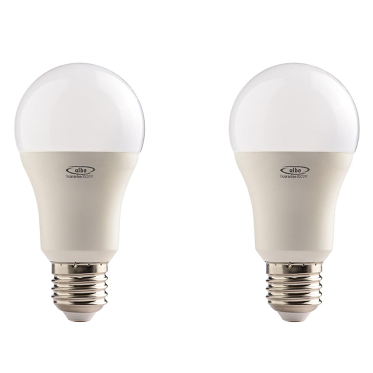 لامپ ال ای دی 15 وات البو مدل حبابی پایه E27 بسته 2 عددی