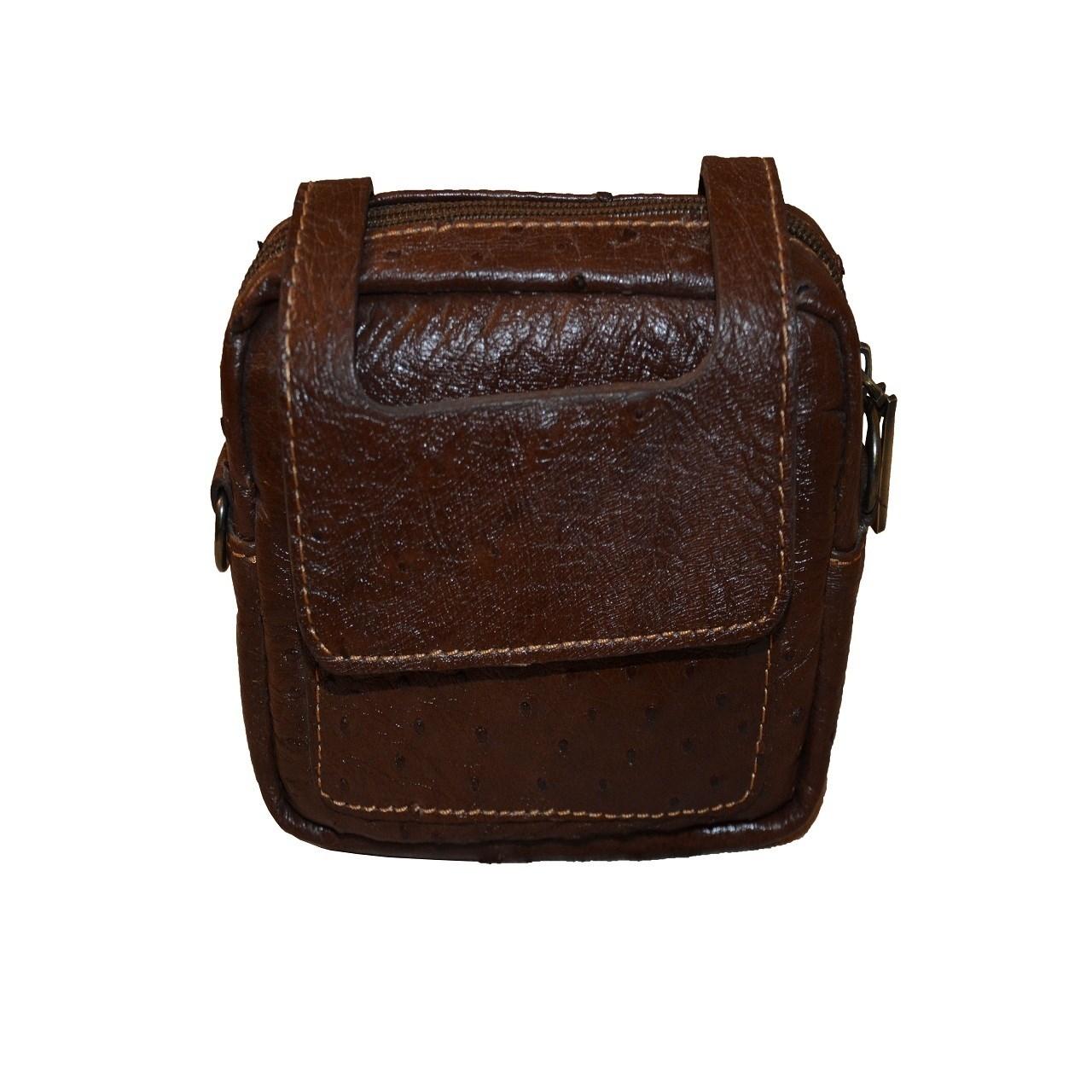 کیف دوشی چرم مدیسون مدل 100