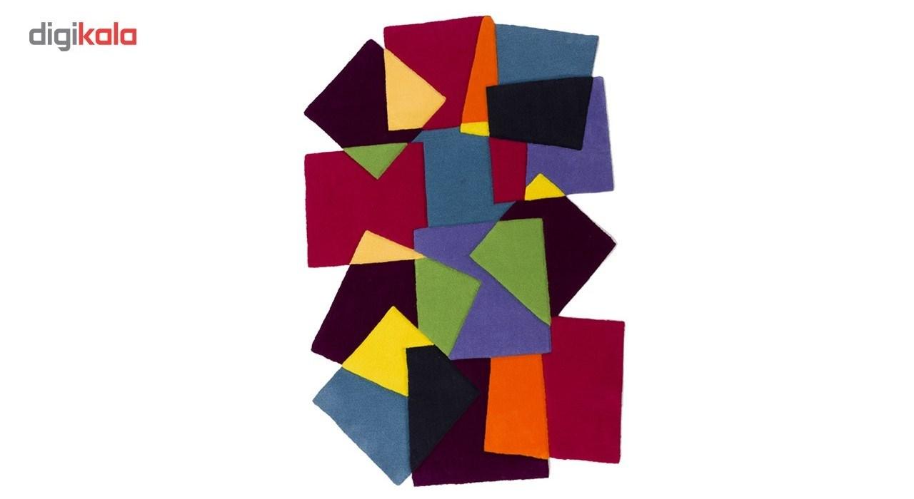 فرش بهتافت نیمه دستبافت طرح فانتزی 2123 با الیاف طبیعی سایز 120x180