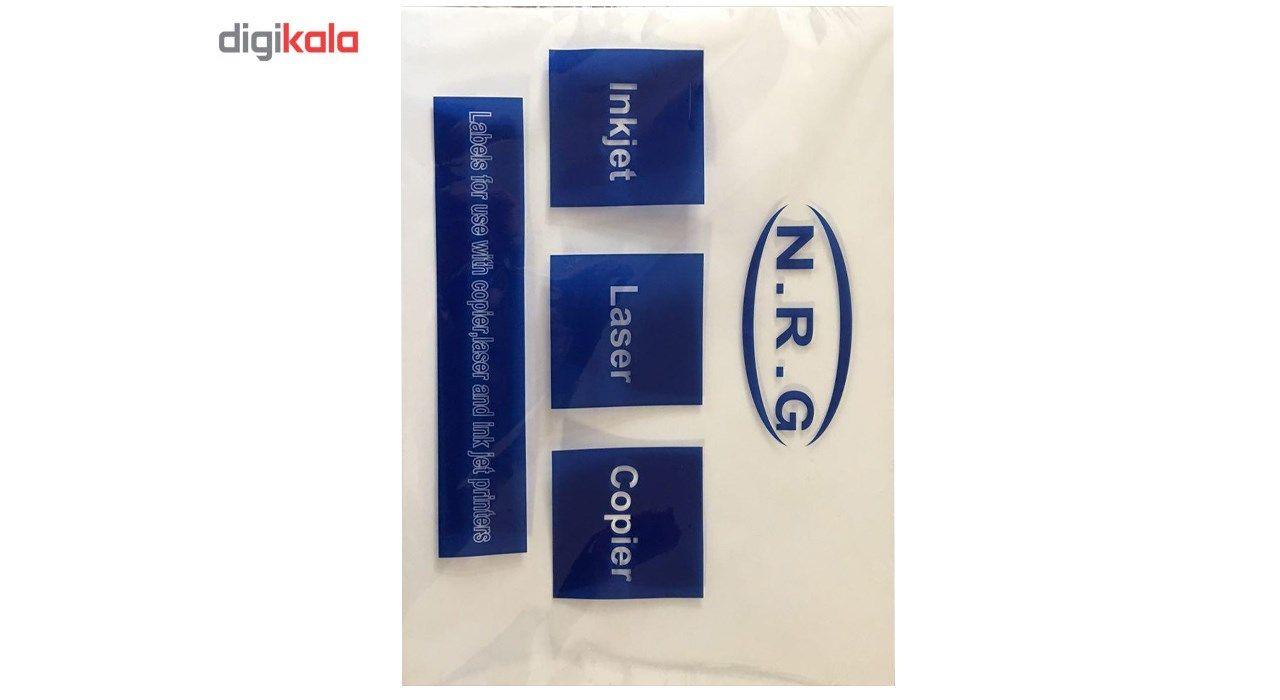 کاغذ لیزری پشت چسب دار مات مدل 135 گرمی سایز A4 بسته 100 برگی main 1 1