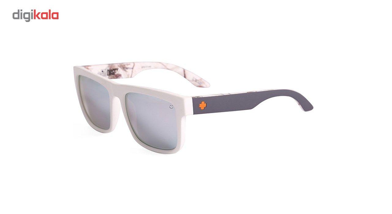 عینک آفتابی اسپای سری Discord مدلSoft Matte Decoy Realtre Happy Gray Green Polar White Mirror