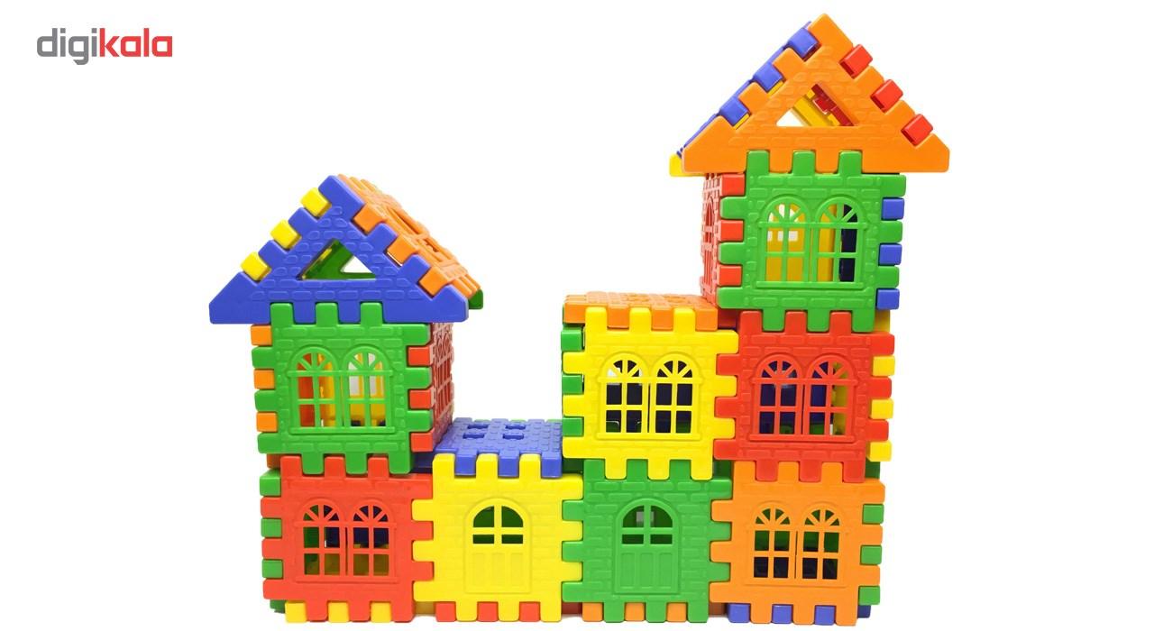 بازی ساختنی بلوک های خانه سازی 72 تکه
