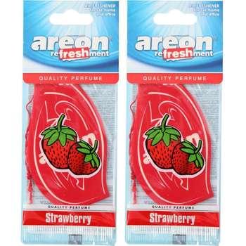 خوشبو کننده ماشین آرئون مدل Refreshment Strawberry - بسته 2 عددی