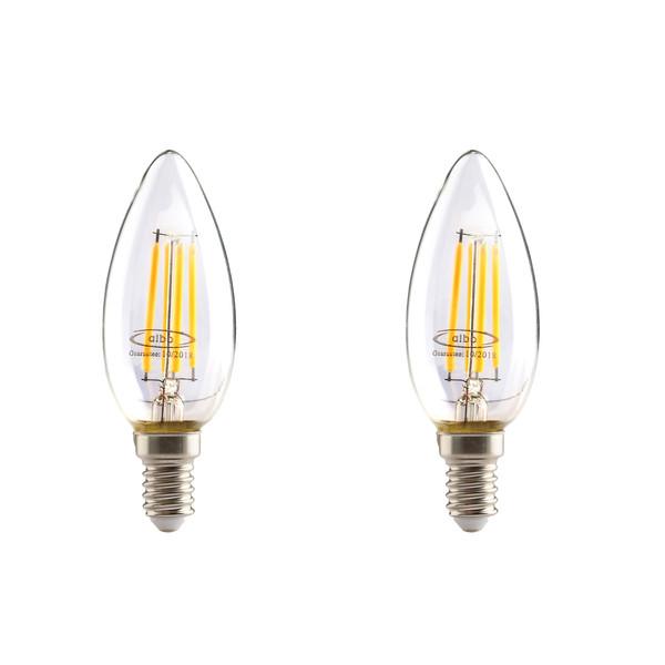 لامپ ال ای دی فیلامنتی 4 وات البو مدل ساده پایه E14  بسته 2 عددی