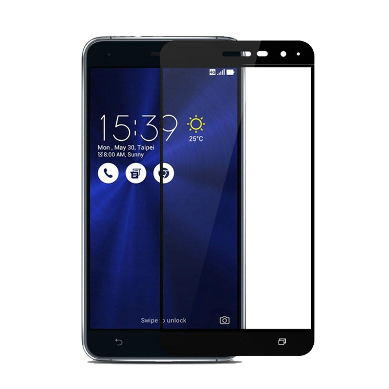 محافظ صفحه نمایش شیشه ای تمپرد مدل Full Cover مناسب برای گوشی موبایل ایسوس Zenfone 3 5.2 ZE520KL