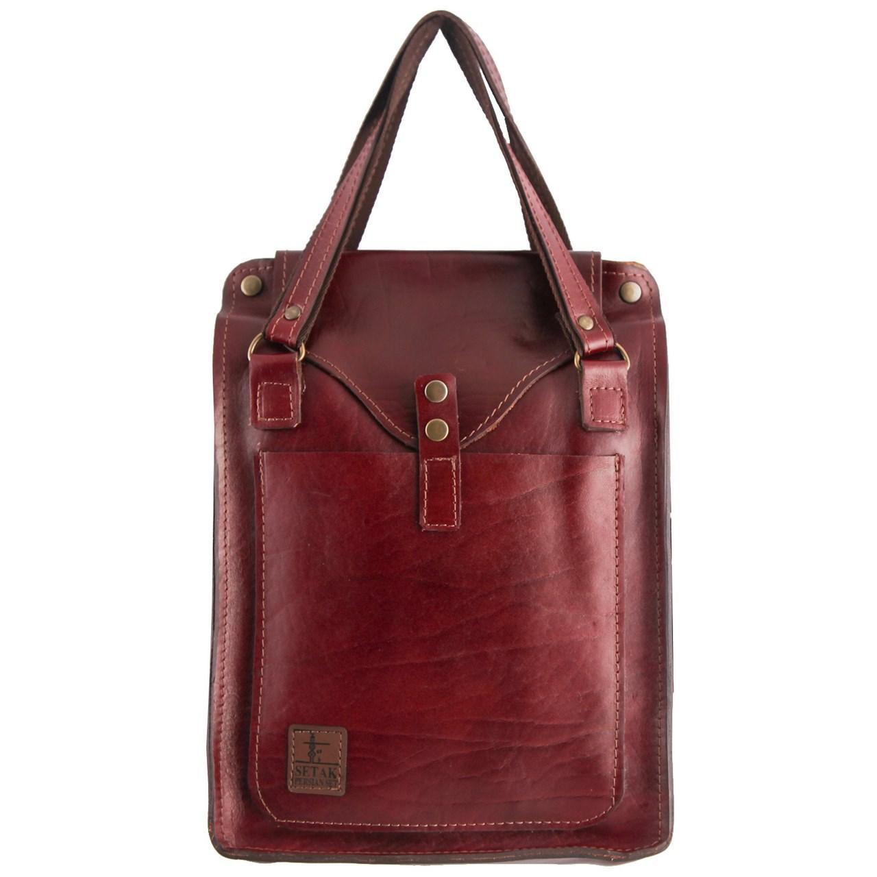 کیف دستی چرم طبیعی گالری ستاک کد 81046