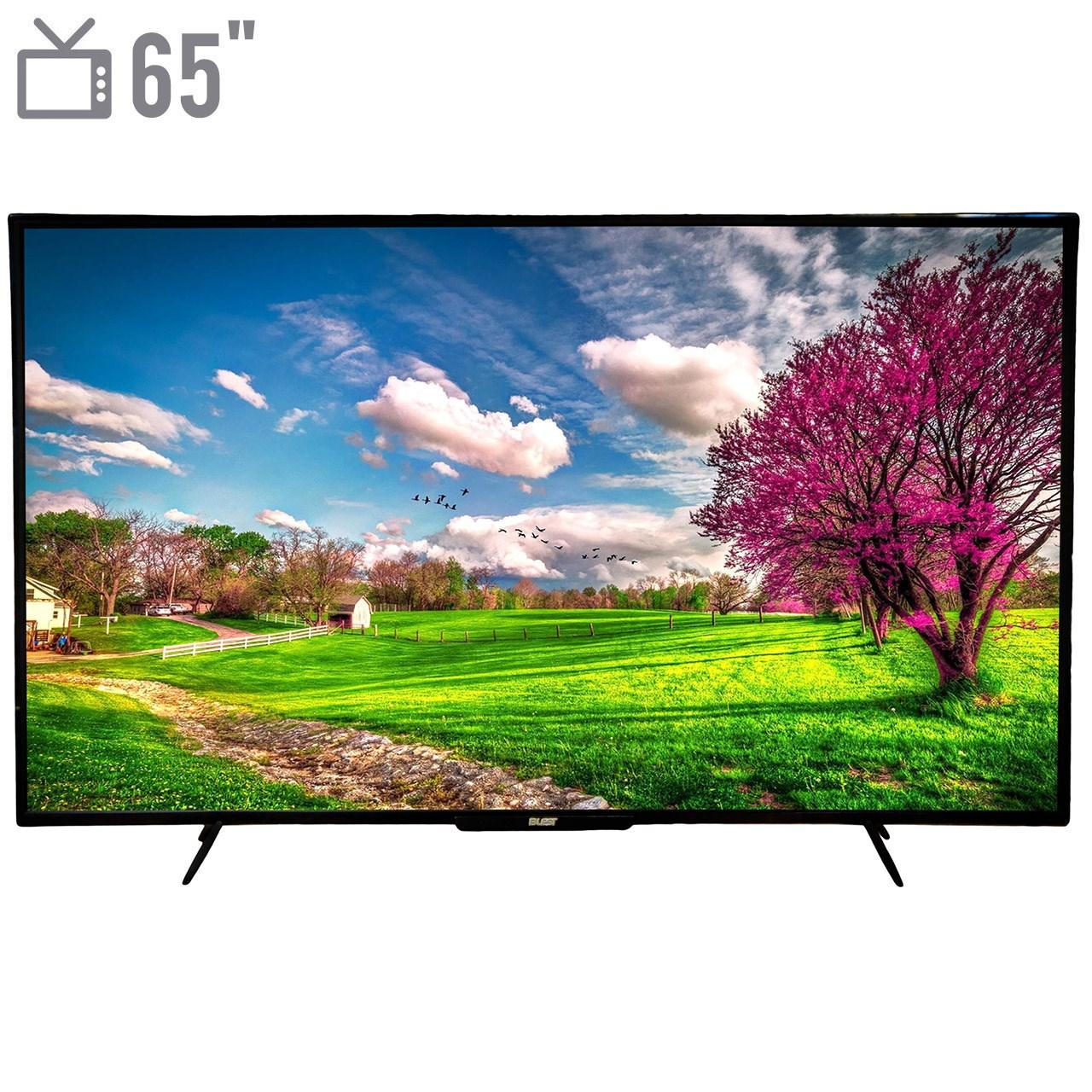تصویر تلویزیون ال ای دی هوشمند بلست مدل BTV-65KDA110B سایز 65 اینچ