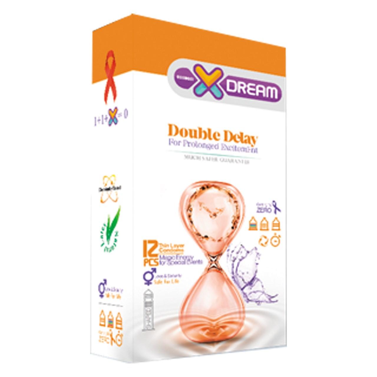 قیمت کاندوم ایکس دریم مدل تاخیری مضاعف بسته 12 عددی