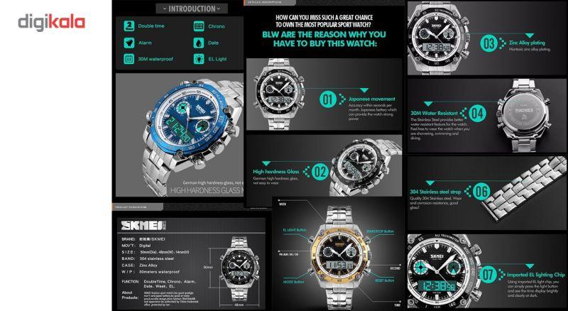 ساعت مچی دیجیتالی مردانه اسکمی مدل 1204