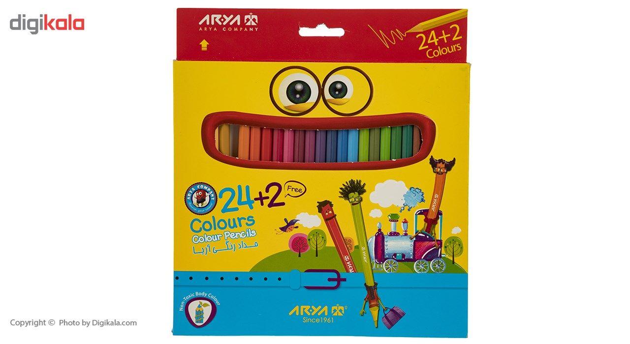 مداد رنگی 24 رنگ آریا مدل 3017 main 1 1