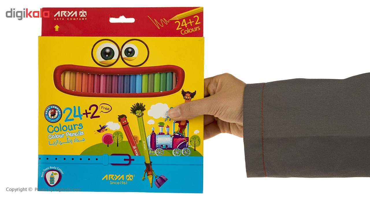 مداد رنگی 24 رنگ آریا مدل 3017 main 1 2
