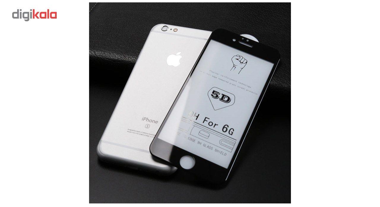 محافظ صفحه نمایش تمام چسب شیشه ای مدل 5D مناسب برای گوشی اپل آیفون 6/6s main 1 2
