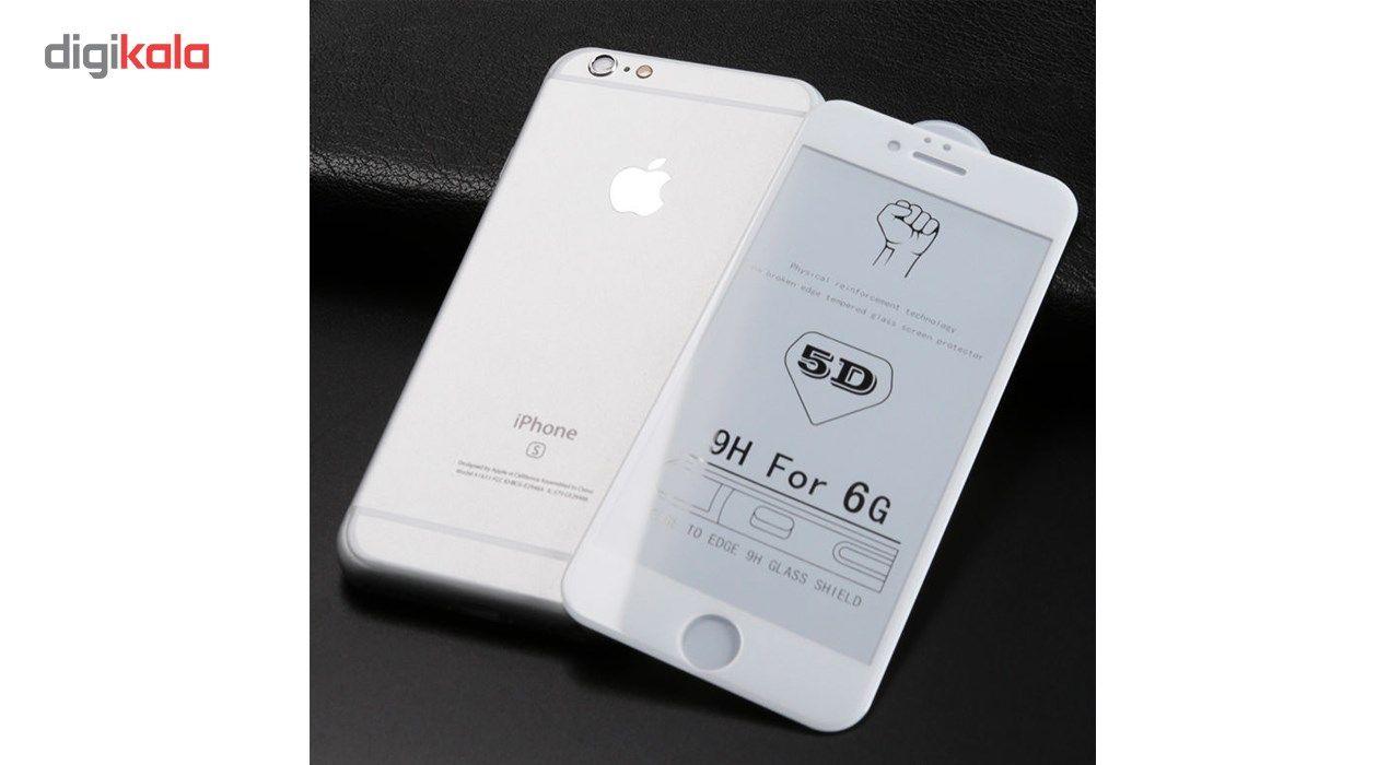 محافظ صفحه نمایش تمام چسب شیشه ای مدل 5D مناسب برای گوشی اپل آیفون 6/6s main 1 3