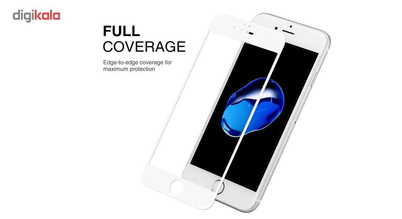 محافظ صفحه نمایش تمام چسب شیشه ای مدل 5D مناسب برای گوشی اپل آیفون 6/6s main 1 8