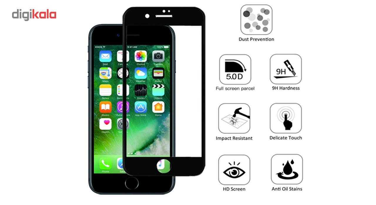 محافظ صفحه نمایش تمام چسب شیشه ای مدل 5D مناسب برای گوشی اپل آیفون 6/6s main 1 11
