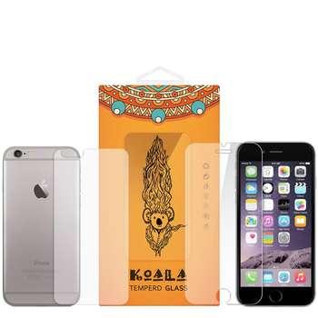محافظ صفحه نمایش شیشه ای Tempered و پشت شیشه ای Tempered کوالا مناسب برای گوشی موبایل اپل آیفون 6/6S