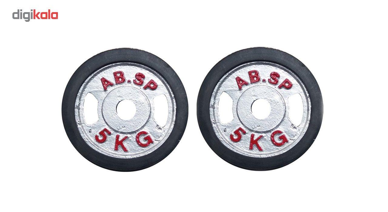 وزنه هالتر مدل E5 وزن 5کیلوگرم بسته دو عددی main 1 1