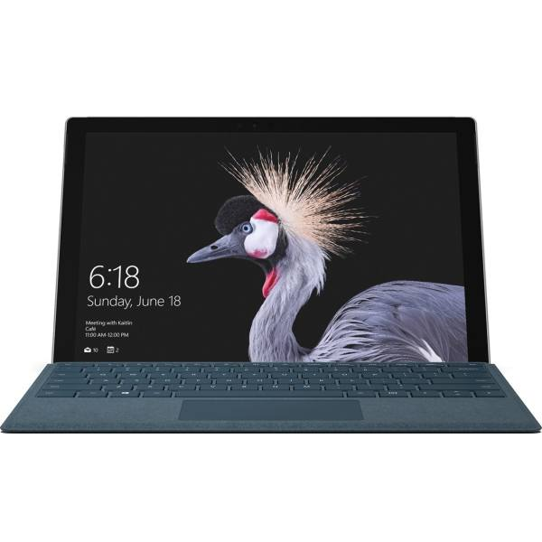 تبلت مایکروسافت مدل Surface Pro 2017 - C به همراه کیبورد Blue Cobalt Signature Type Cover - ظرفیت 256 گیگابایت