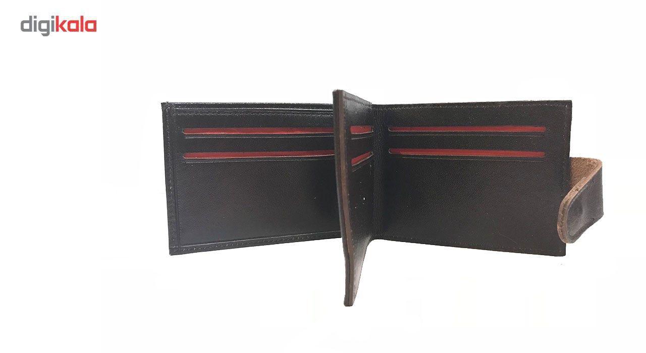 کیف پول و جاکارتی چرم رایا مدل Paya -  - 3