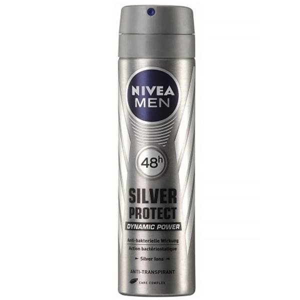 پک اسپری مردانه نیوآ مدل Silver Protect و Cool Kick بسته دو عددی   Nivea Silver Protect And Cool Kick Spray For Men Pack Of 2