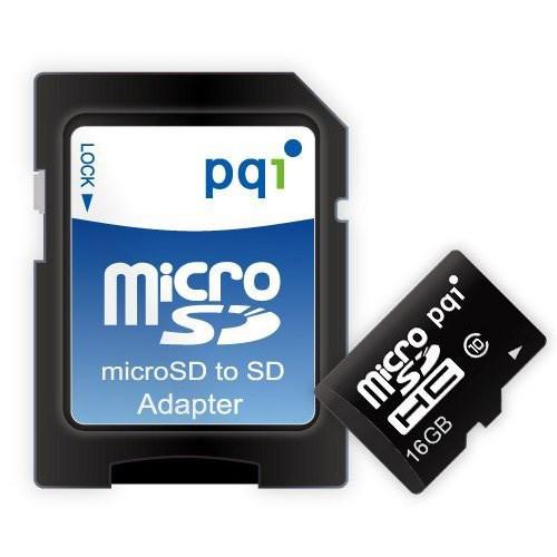 کارت حافظه میکرو اس دی پی کیو آی Micro SDHC Class 10 UHS-I 16GB+SD Adapter