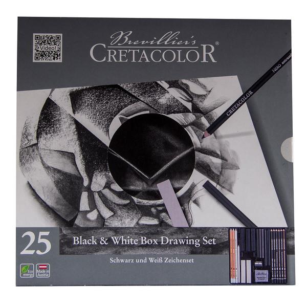 ست طراحی سیاه و سفید کرتاکالر مدل 40026