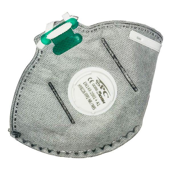 ماسک تنفسی سوپاپ دار کربن اکتیو SPC بسته 12 عددی
