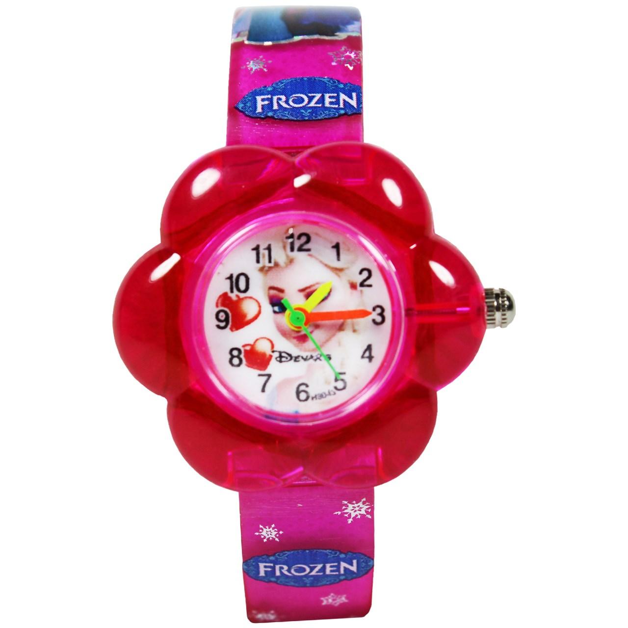 ساعت مچی عقربه ای بچگانه مدل K-08 دخترانه 15