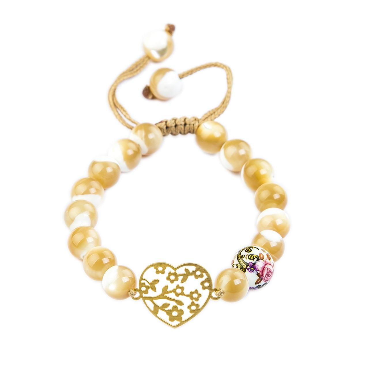 دستبند طلا 18 عیار ریحان مدل Sea Stone
