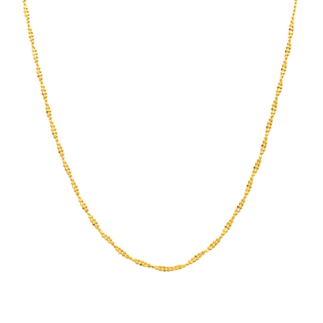 زنجیر طلا 18 عیار زنانه مدل F0001