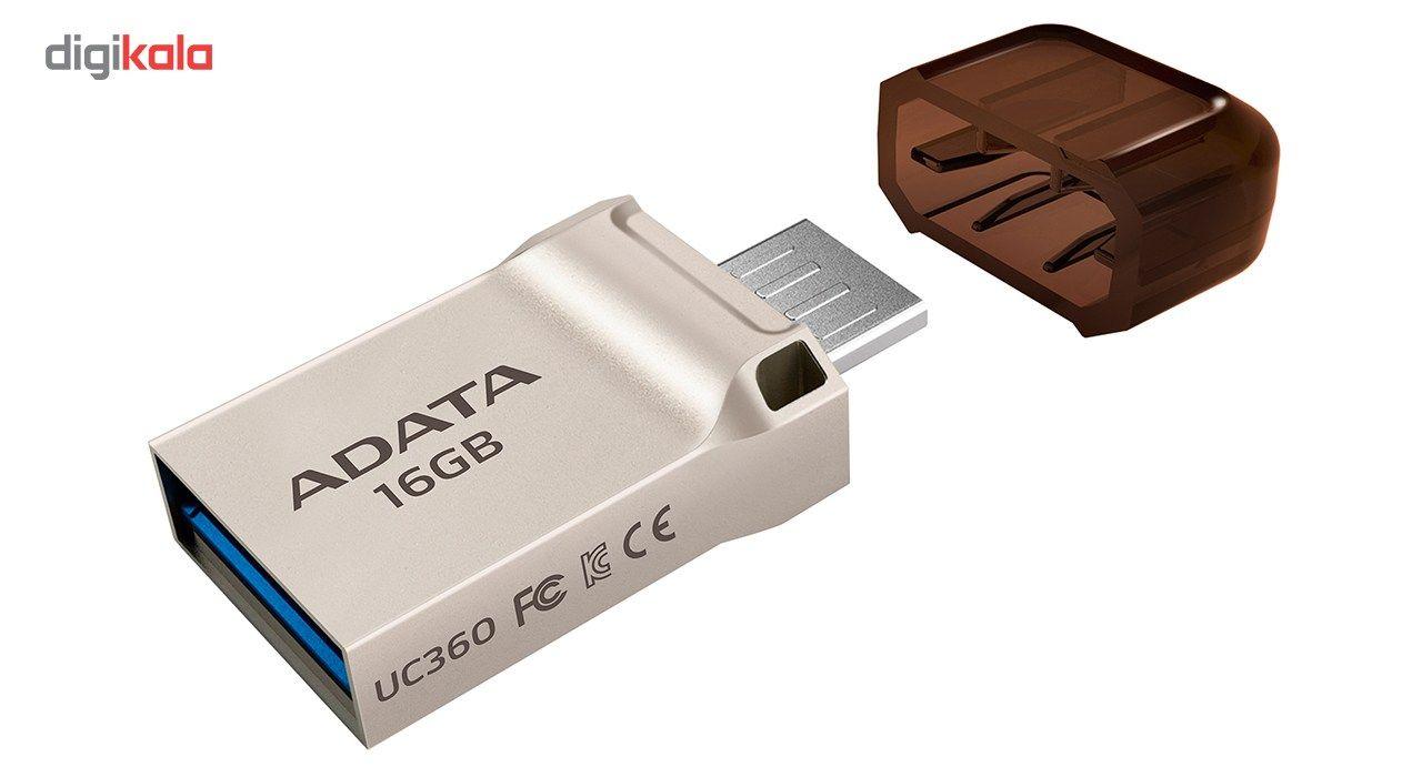 فلش مموری OTG ای دیتا مدل UC360 ظرفیت 16 گیگابایت main 1 2
