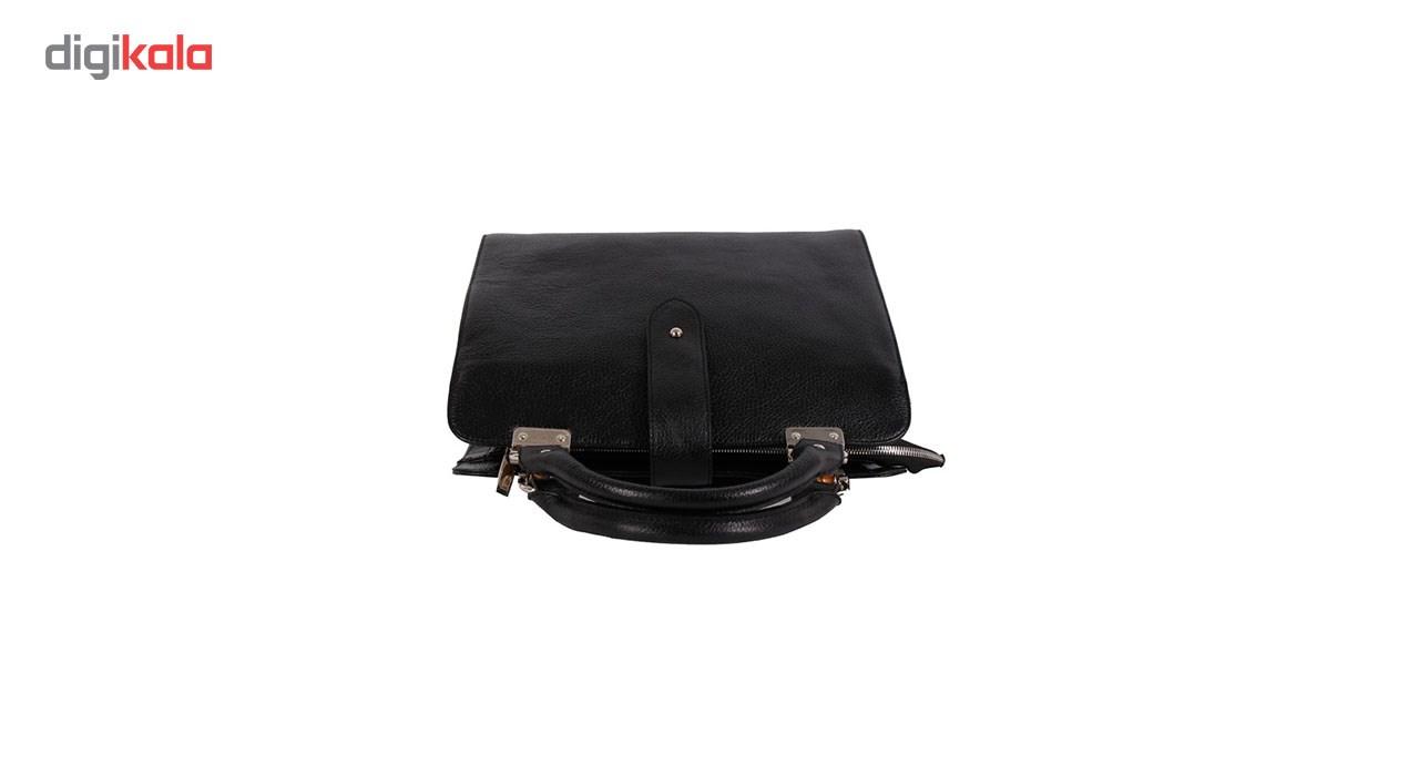 کیف دوشی زنانه رویال چرم کدWB4-Black