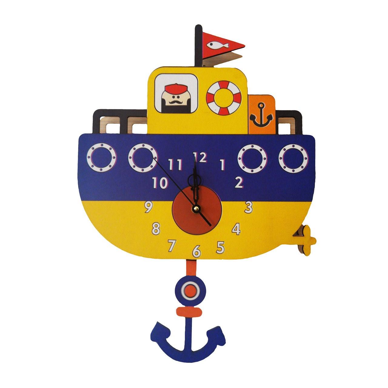 ساعت دیواری جیک جیک مدل کشتی