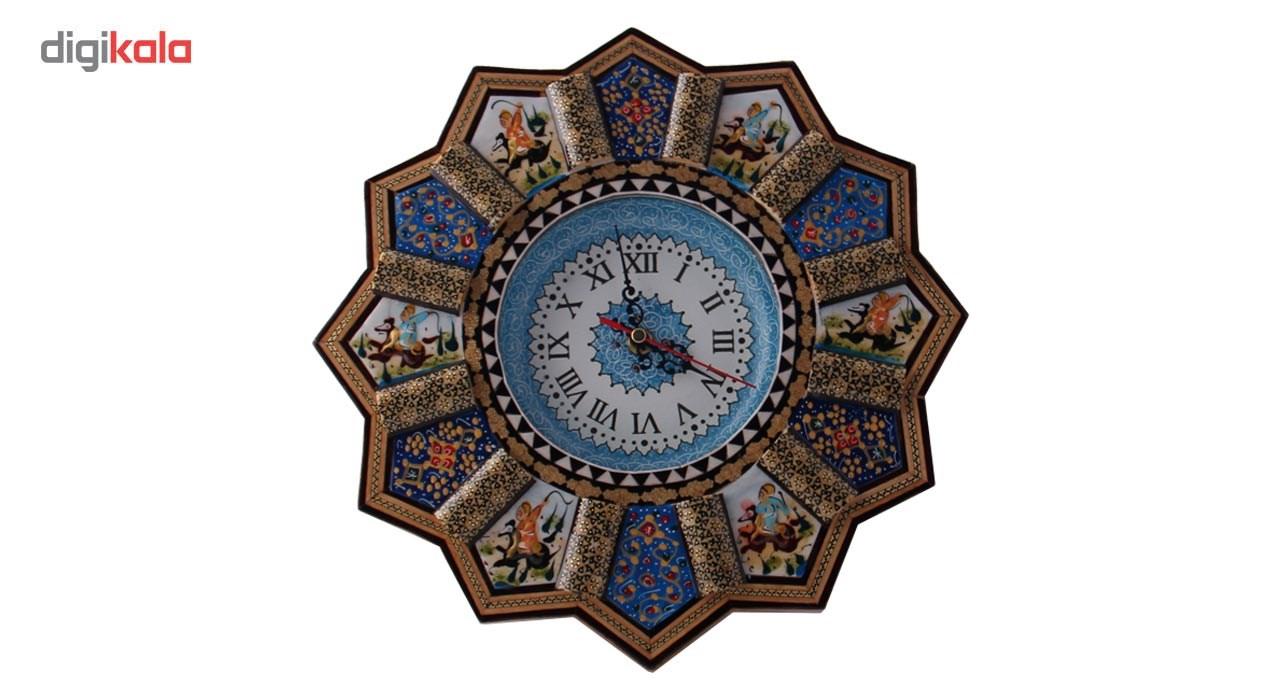 خرید                      ساعت دیواری خاتم کاری مارکت لند کد Mkh174
